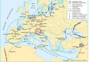 Cuáles eran las principales rutas comerciales en la edad media