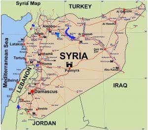 Siria mapa hoy