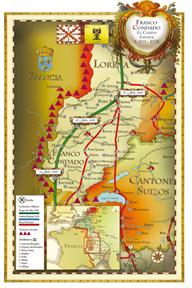 mapa camino español